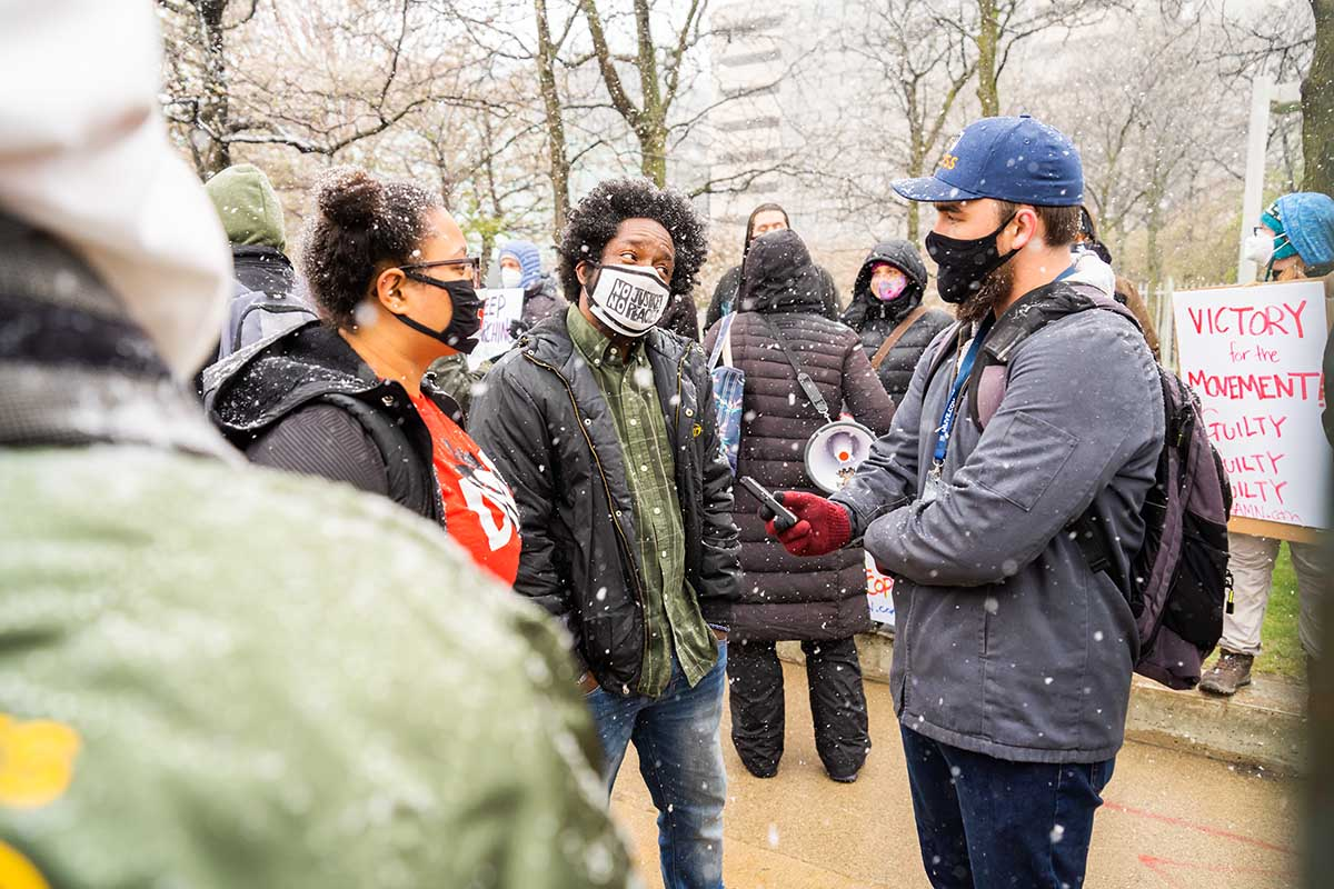 Detroit Will Breathe organizer Tristan Taylor