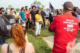 Detroit Will Breathe protester