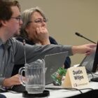 Michigan Independent Redistricting Commission members Dustin Witjes and Cynthia Orton